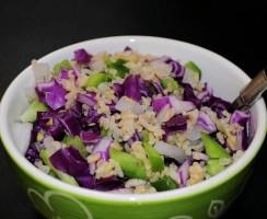 Skvělý recept na rýžový salát s balkánským sýrem